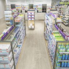 Agencement pharmacie centre commercial Atlantis